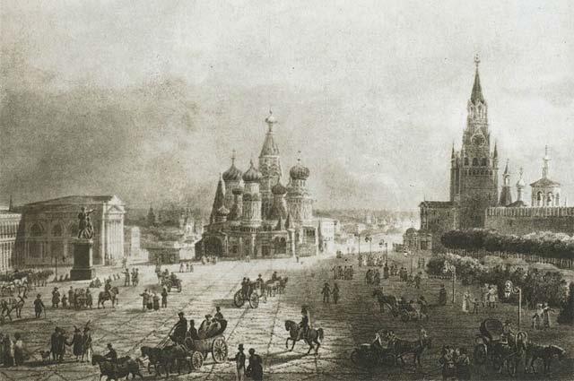 Красная площадь в 1820-х.