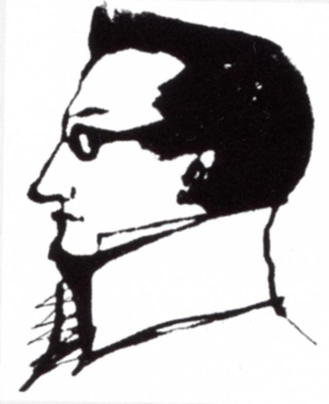 А.С. Грибоедов. Рисунок А.С. Пушкина. 1823.