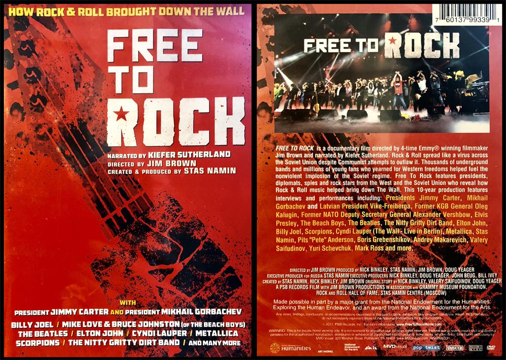 Документальный фильм Free to Rock, созданный Джимом Брауном, Стасом Наминым и др., в содружестве с Музеем Грэмми и Залом славы рок-н-ролла. Его мировая премьера прошла на телеканале PBS в 2017 году, а в 2018 году фильм был выпущен на DVD в США.