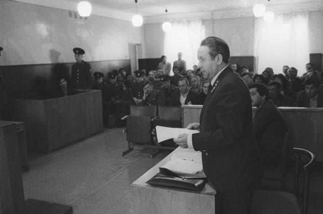 Суд над зачинщиками Сумгаитского погрома.