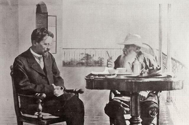 Толстой и Чехов в Гаспре, 1901 г