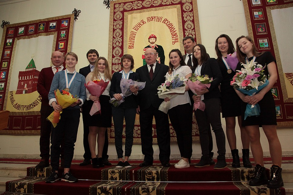 В Нижнем Новгороде наградили бронзовых призеров молодежного чемпионата мира.