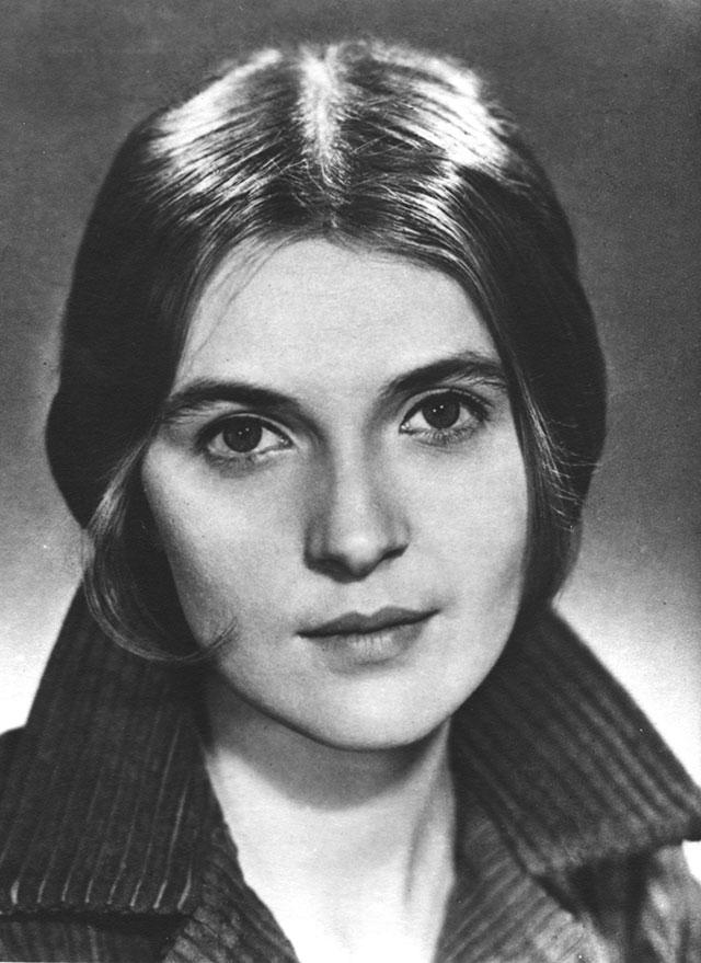Ольга Гобзева в молодости.