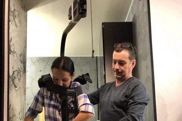 Подготовка к съёмке эпизода.