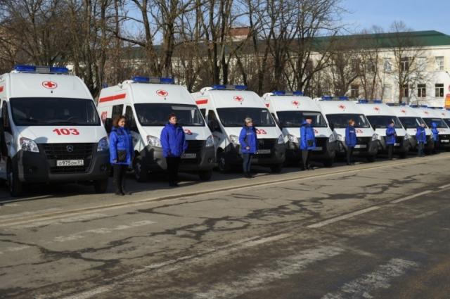 65 машин скорой помощи поступили в Красноярский край.