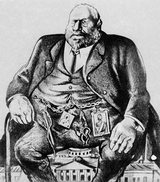 Карикатура на председателя Государственной Думы Михаила Родзянко.