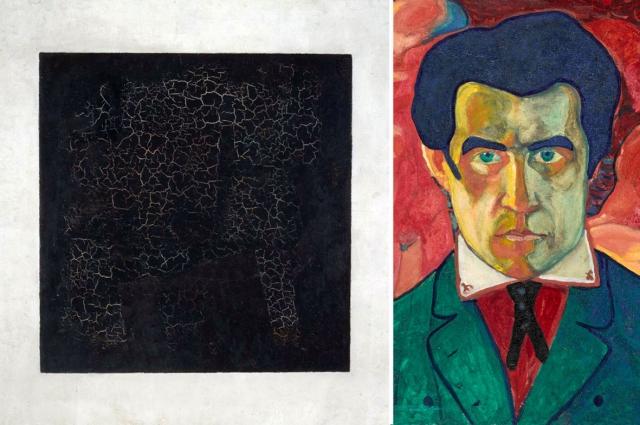 «Чёрный квадрат» и его создатель (Автопортрет, ок. 1910 г.)