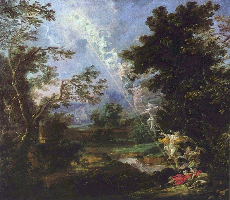 Михаэль Вильманн. Сон Иакова с лестницей на небо.