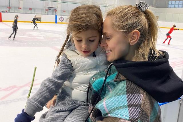 Янина Студилина с дочкой Аней.