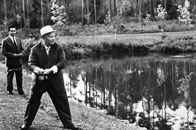 Никита Хрущев на отдыхе. 1960 г.
