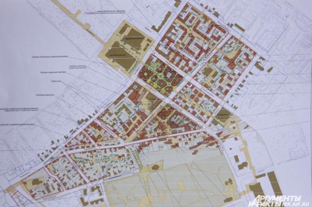 План центральной части города, которую собираются преобразить.