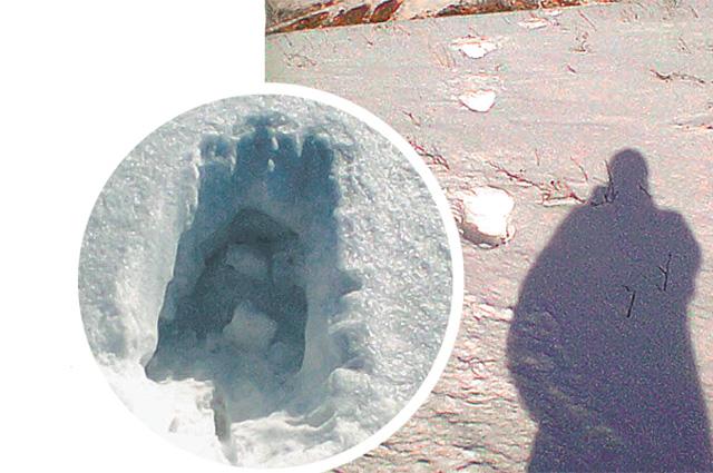 Такие следы были найдены в Казахстане.
