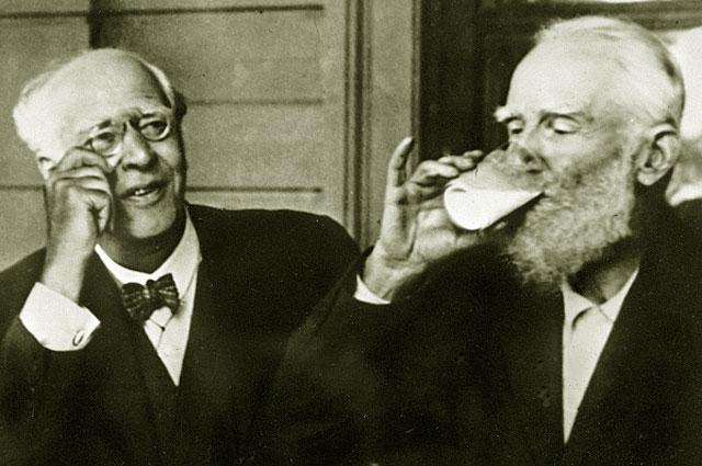 К. Станиславский и Б. Шоу, 1931 год