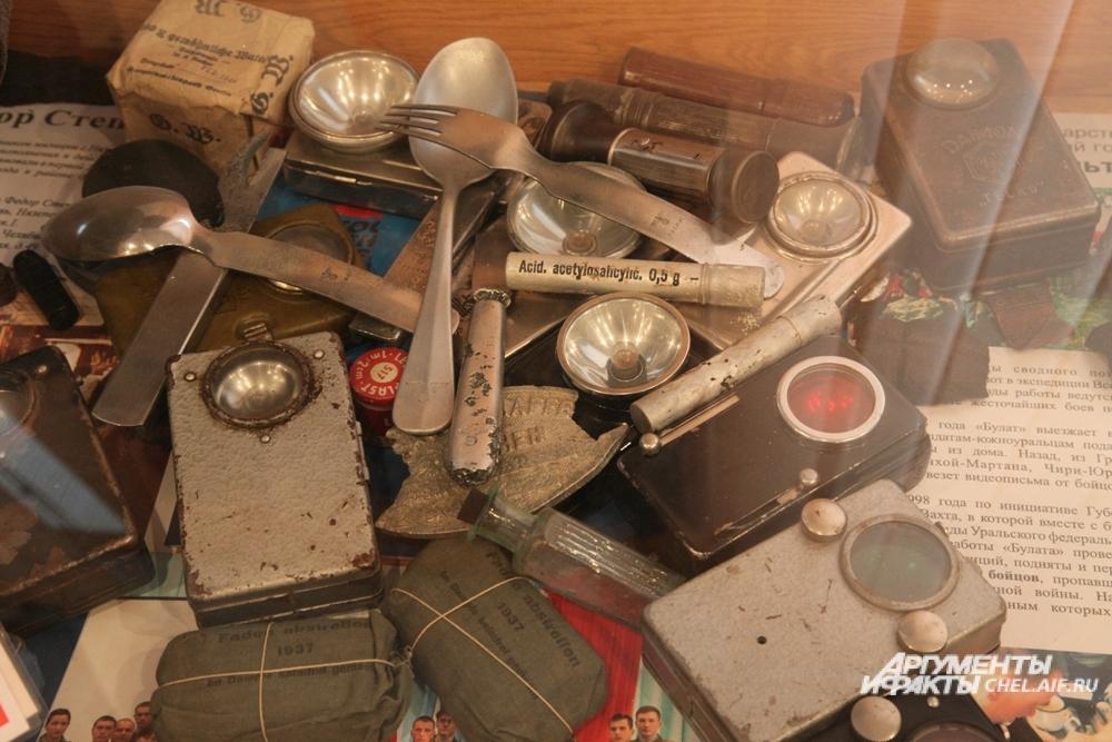 Обнаруженные поисковиками вещи немецких солдат.