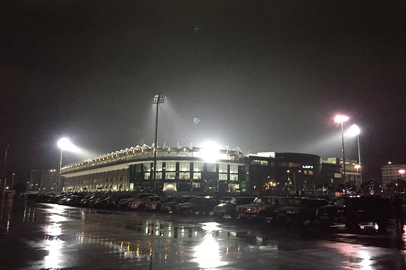 Вид на стадион футбольного клуба «Анжи».
