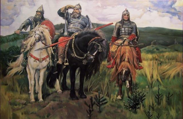 Именно так выглядели славные сыны русской земли по представлению художника Васнецова.