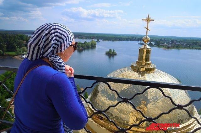 Вид на озеро Селигер.