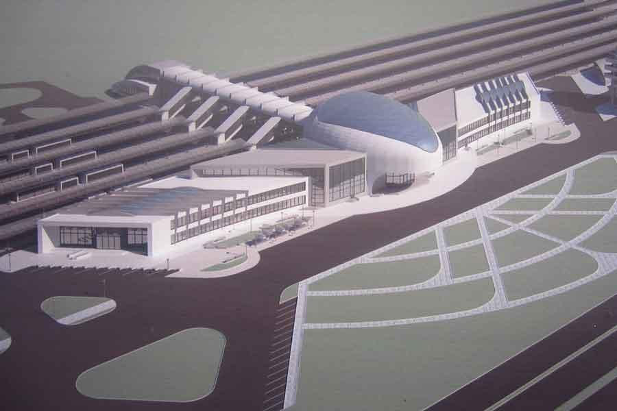 А вот так должен был выглядеть вокзал «Воронеж-3» в районе ул. Остужева.