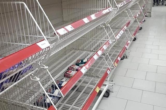 Фото сделано в середине марта в одном из краснодарских сетевых магазинов.