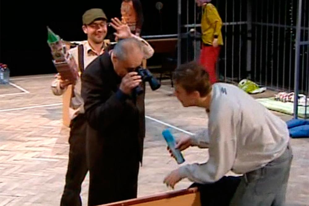 Сцена из спектакля Идиоты