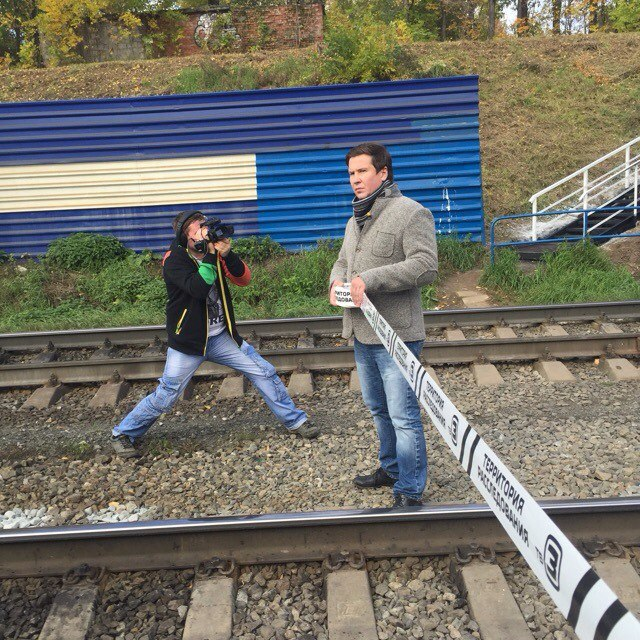 Дмитрий Штоколов на съемках в Перми