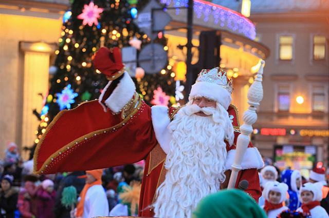 Дед Мороз во время визита в Санкт-Петербург, 22 декабря 2013 года