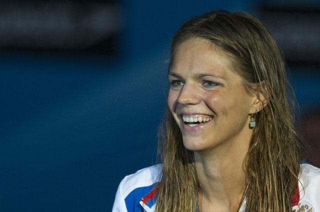 Юлия Ефимова на Чемпионате мира по водным видам спорта в Барселоне. 2013 год