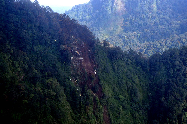 Гора Салак в Индонезии, где разбился «Сухой Суперджет-100».