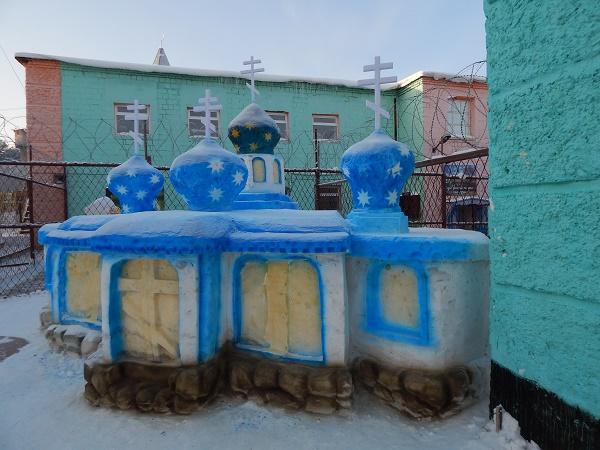 Скульптура из снега колония ИК-12 Нижний Тагил