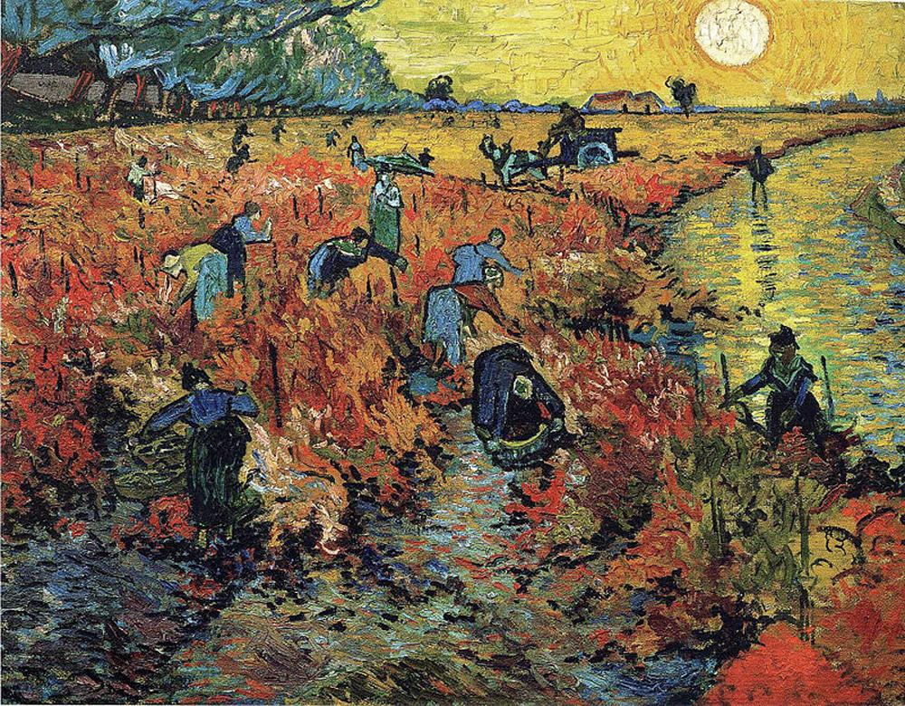 Винсент Ван Гог «Красные виноградники в Арле. Монмажур»