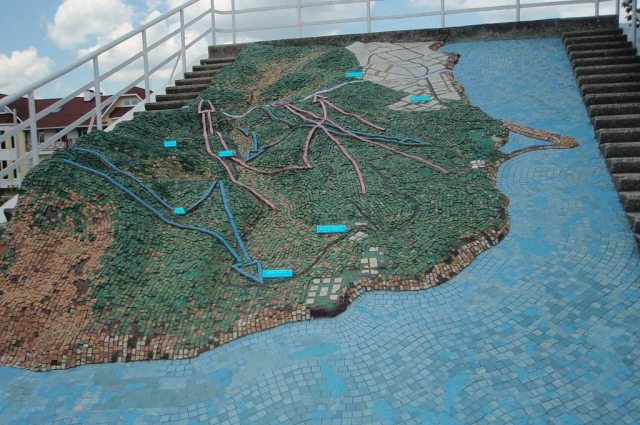 Мозаика «План обороны Малой земли» в селе Мысхако