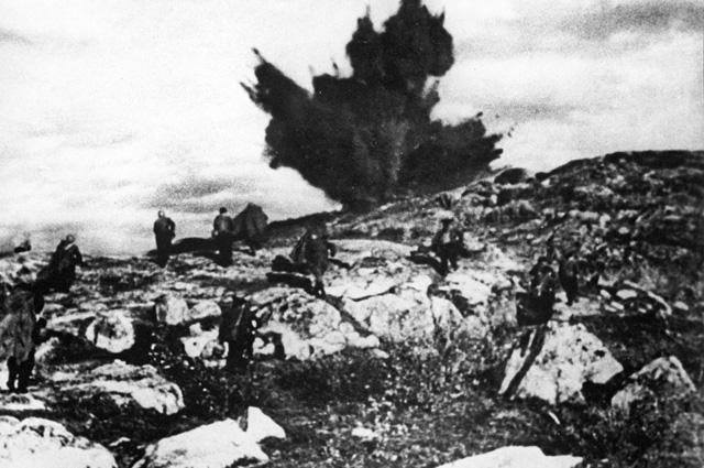 Северная Норвегия. Штурм высоты. Петсамо-Киркенесская операция. 1944 г.