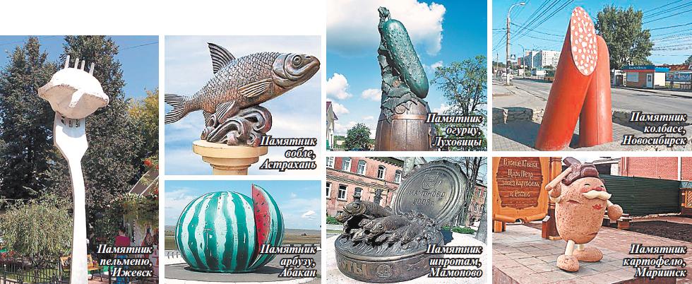 Памятники еде в городах России