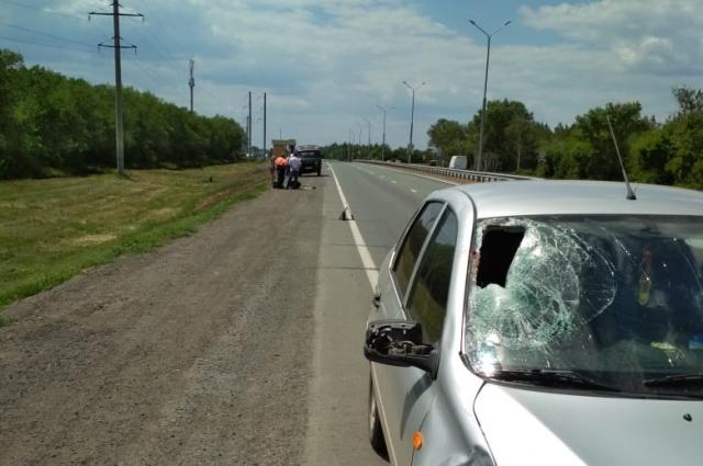 На трассе Оренбург - Орск насмерть сбит дорожный рабочий.