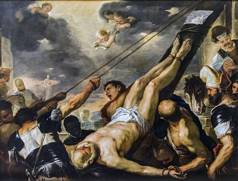 Лука Джордано. Распятие апостола Петра.
