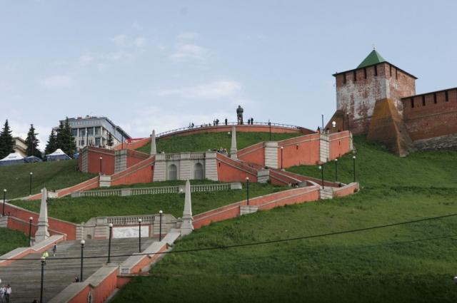 Чкаловская лестница в Нижнем Новгороде.