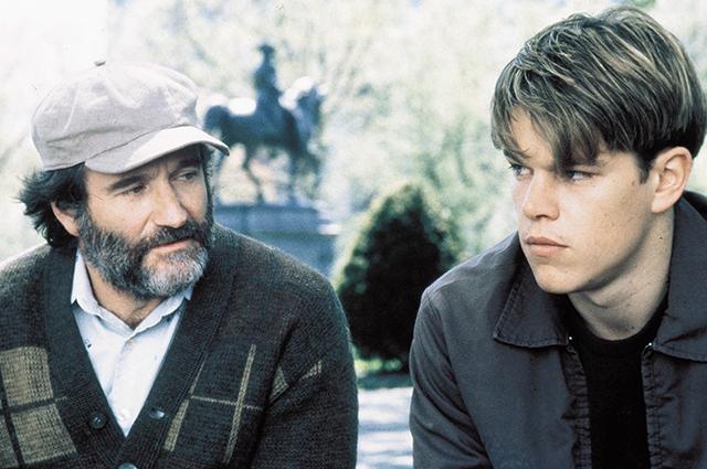 Мэтт Дэймон и Робин Уильямс «Умница Уилл Хантинг».