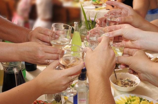 застолье, алкоголь