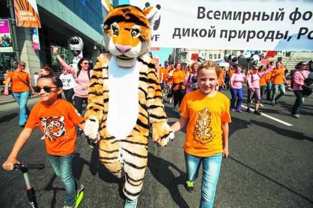 На День тигра во Владивостоке собираются жители всего края.