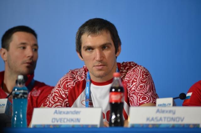 Александр Овечкин. Пресс-конференция сборной России по хоккею