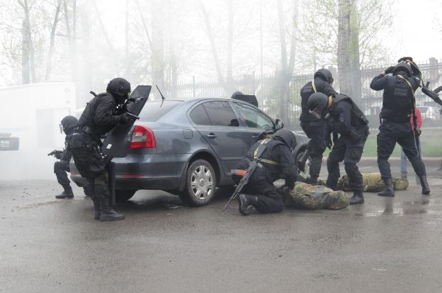 Сотрудники антинаркотического спецотряда «Гром» показали, как задерживают преступников.