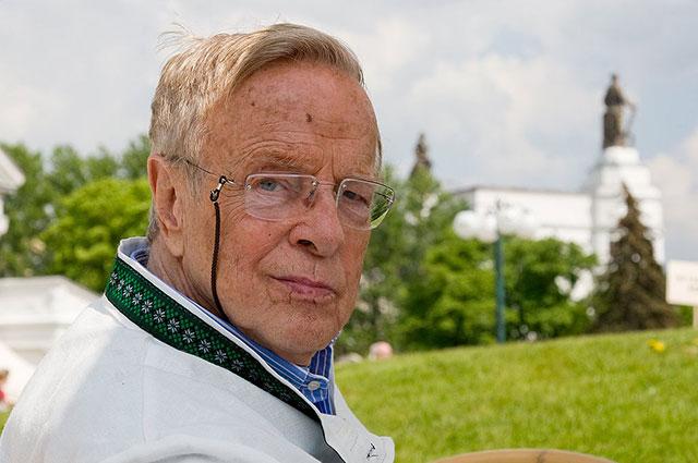 Франко Дзеффирелли на ВДНХ в Москве, 2008 г.