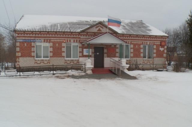 Здание сельской администрации.
