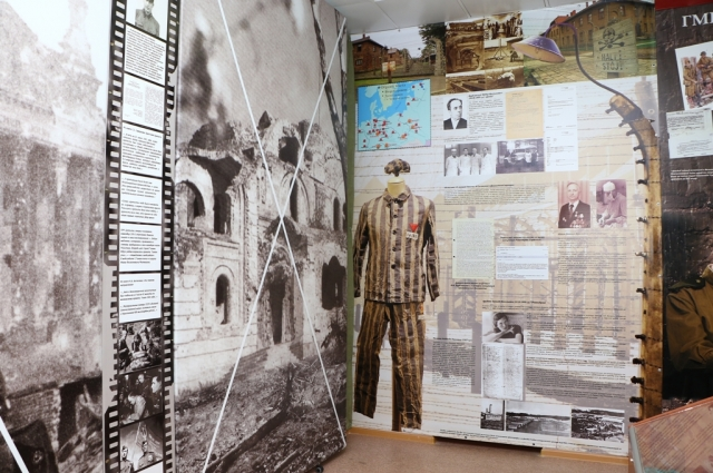 Стенд в Учебно-историческом центре Нижегородской медакадемии, посвященный врачам-узникам концлагерей.