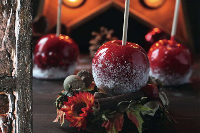 Рождественские яблоки в карамели