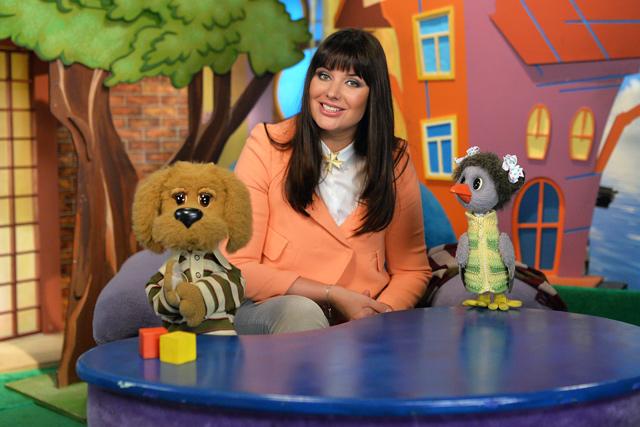 Оксана Федорова на съемке детской телевизионной передачи «Спокойной ночи, малыши!» в телецентре «Останкино».