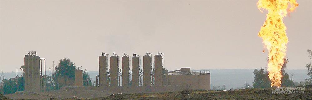 Везде, где огонь, нефтяные поля Ирака