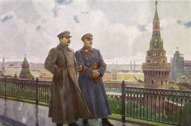 Иосиф Сталин и Климент Ворошилов.