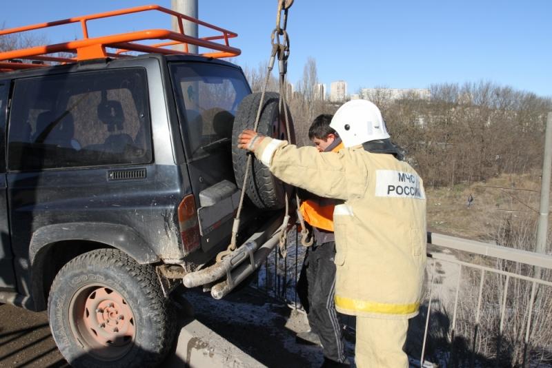 Авария на мосту в Симферополе