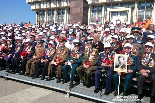 Ветераны на Параде Победы.